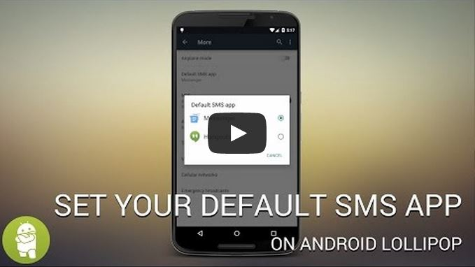 set default sms app lollipop androidability - How to set your default SMS app on Android Lollipop